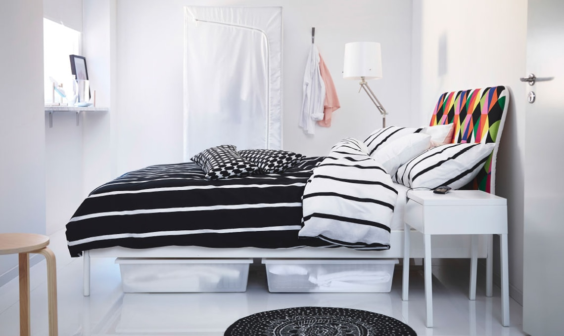 5 idee per organizzare lo spazio sotto il letto casafacile for Biancheria letto ikea