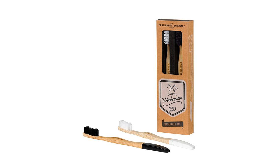 spazzolini da denti in legno