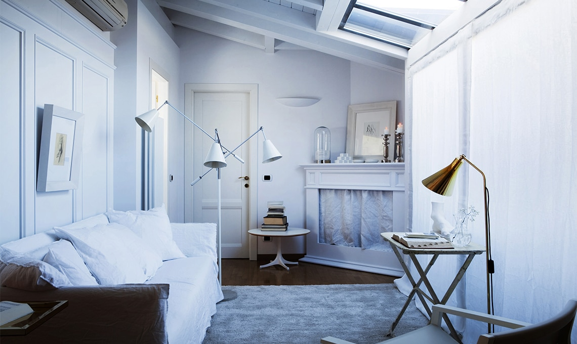 Tende coincasa divano tre posti tavolo basso latest belleri tende morbide classiche con tende - Tende sala moderna ...