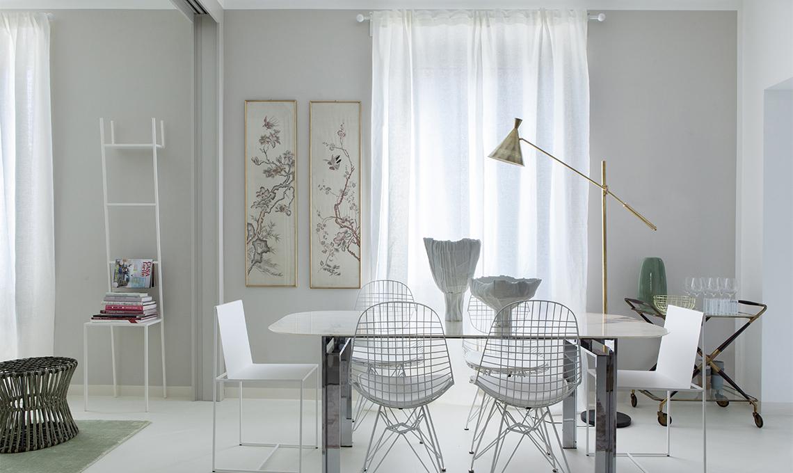 Tende eleganti per soggiorno 24 idee chic casafacile - Tende porta finestra ikea ...