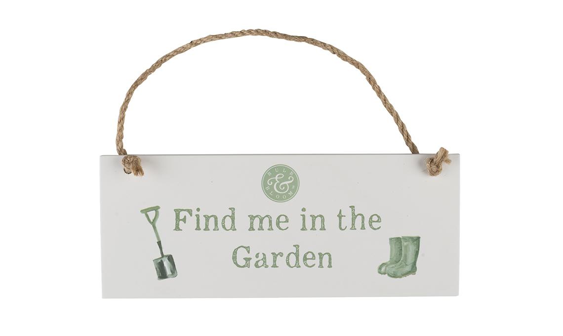 cartello da appendere in giardino