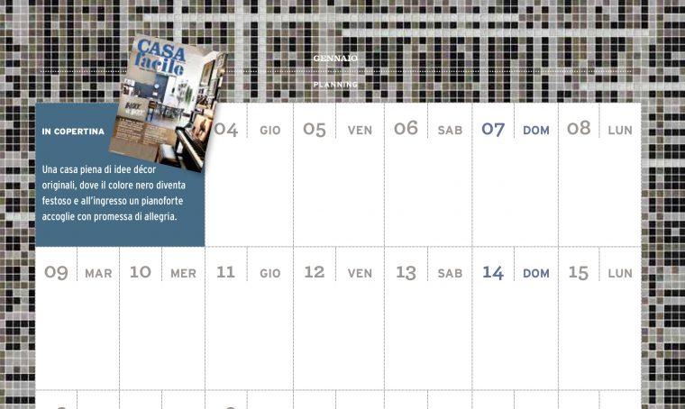 CasaFacile di gennaio ti regala il planning del mese