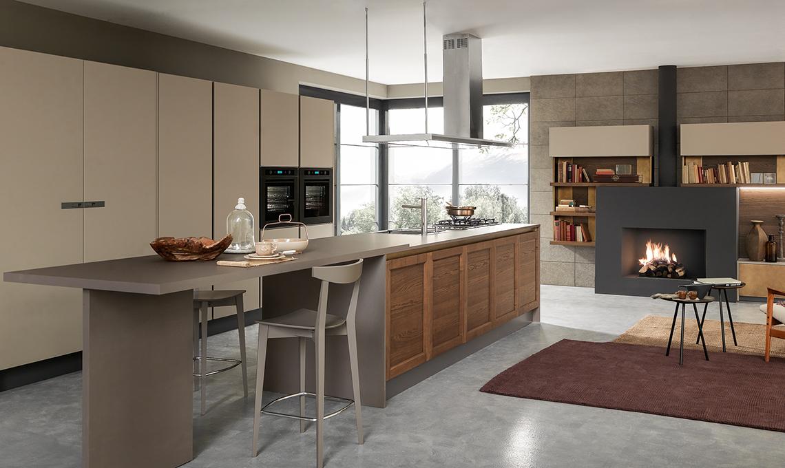 La cucina con isola all 39 americana chic e conviviale for Foto di cucina e soggiorno a pianta aperta