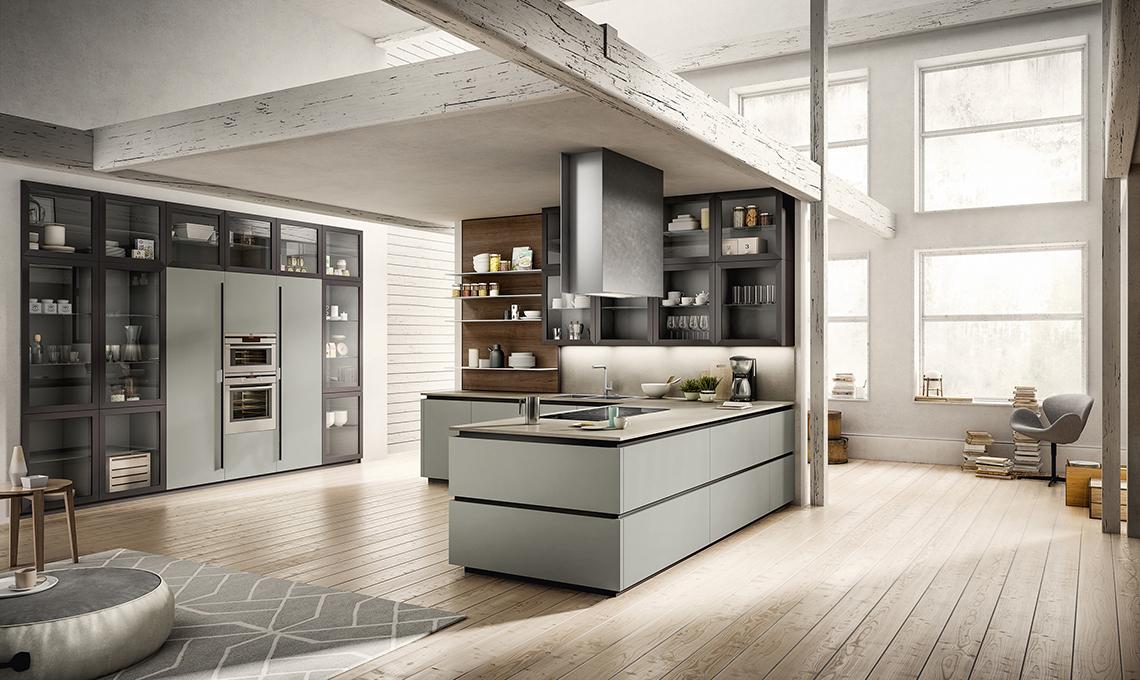 Cucina a vista scegli mobili uguali anche per il for Mobili arredo cucina