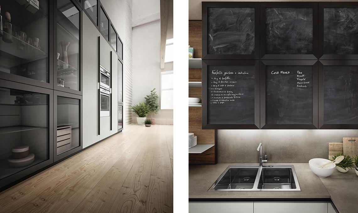 Cucina a vista scegli mobili uguali anche per il soggiorno