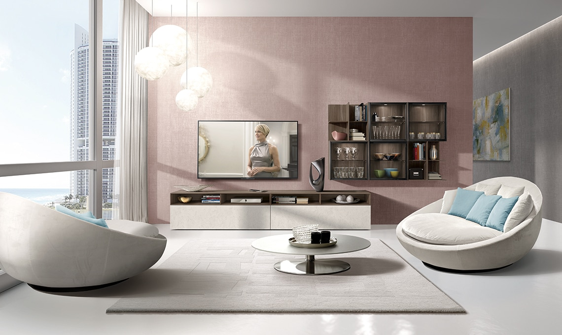 Piante Pensili Da Balcone : Dividere cucina e soggiorno con mobili a colonna casafacile