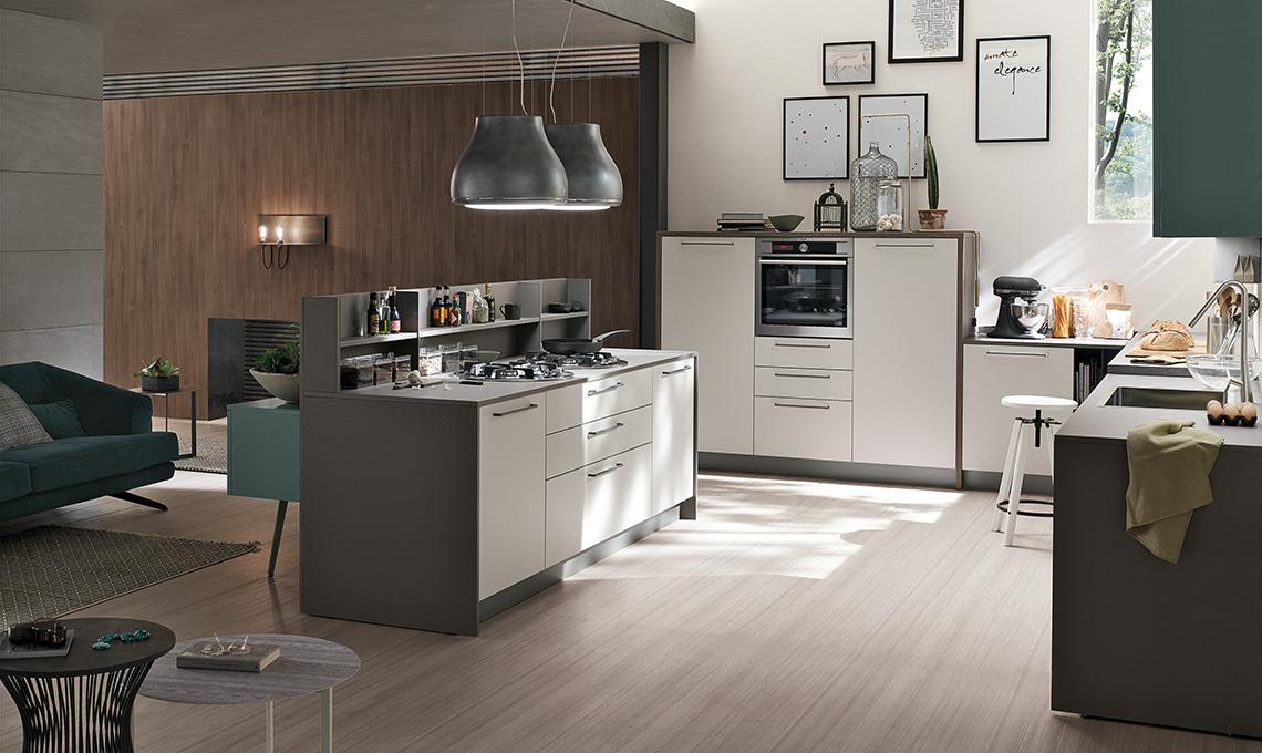 La cucina con isola effetto vedo non vedo casafacile - Cucina replay stosa ...