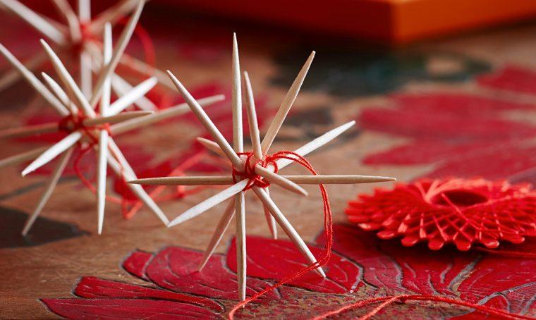 Decorazioni di Natale last minute: la stella di stuzzicadenti