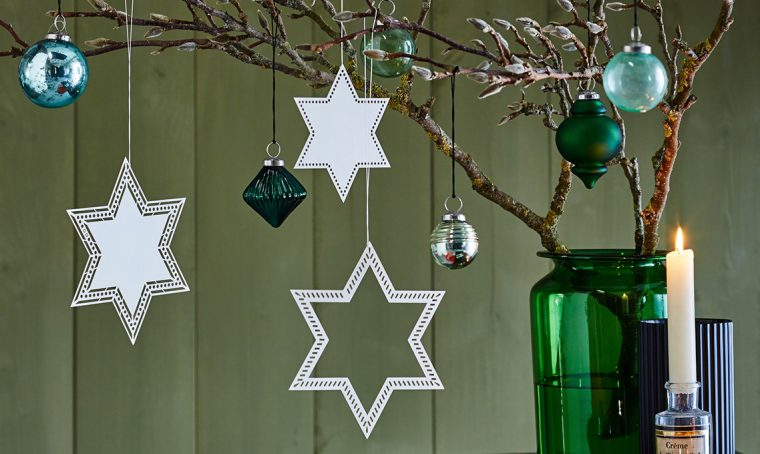 Stelle di carta per decorazioni di Natale fai-da-te