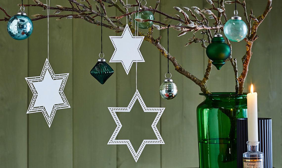 stelle di carta per decorazioni di natale fai
