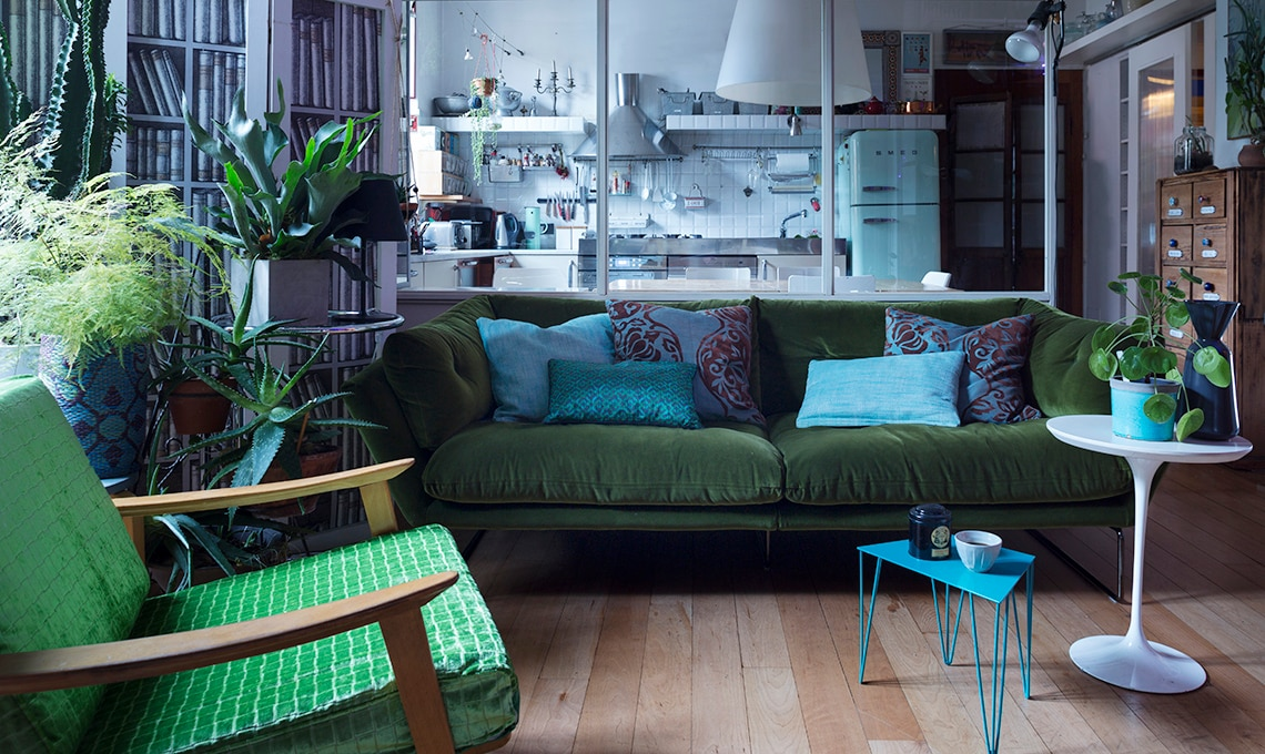 il divano di velluto per cambiare il look al soggiorno