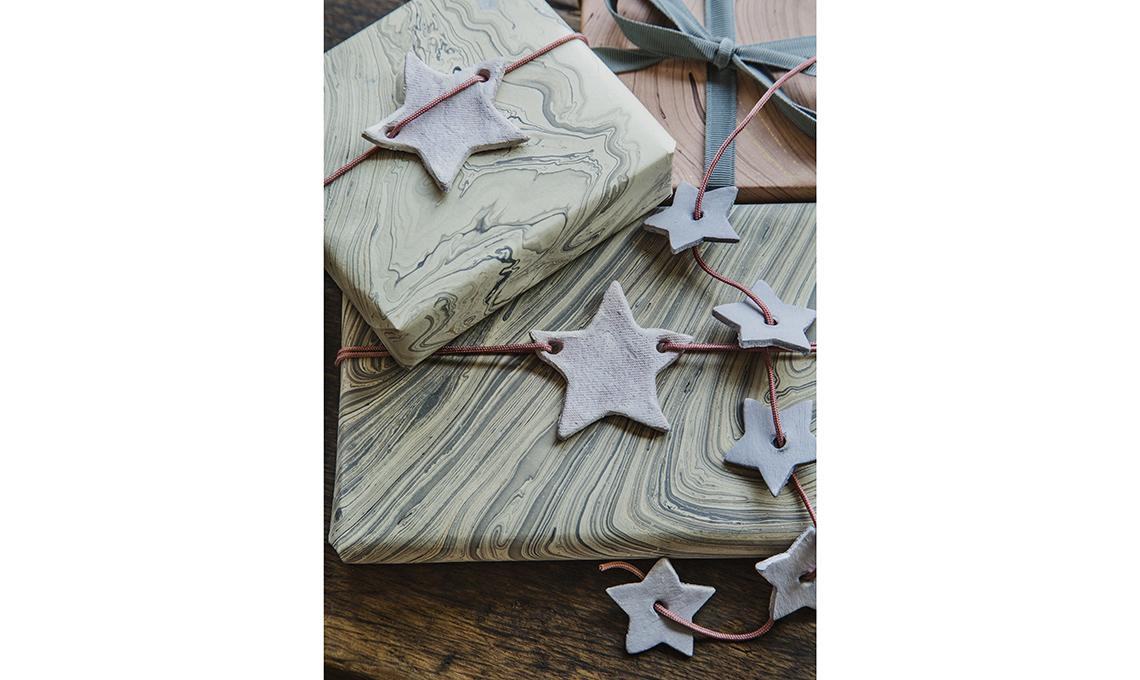 ghirlanda natalizia con stelle