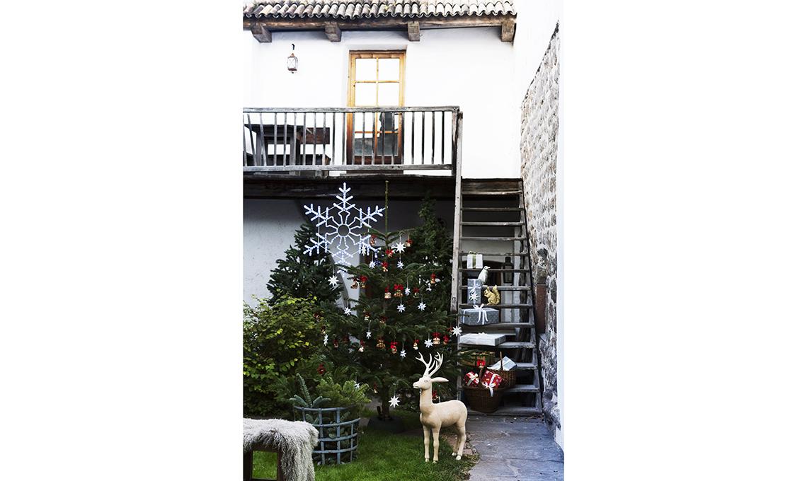 decorazioni natalizie giardino