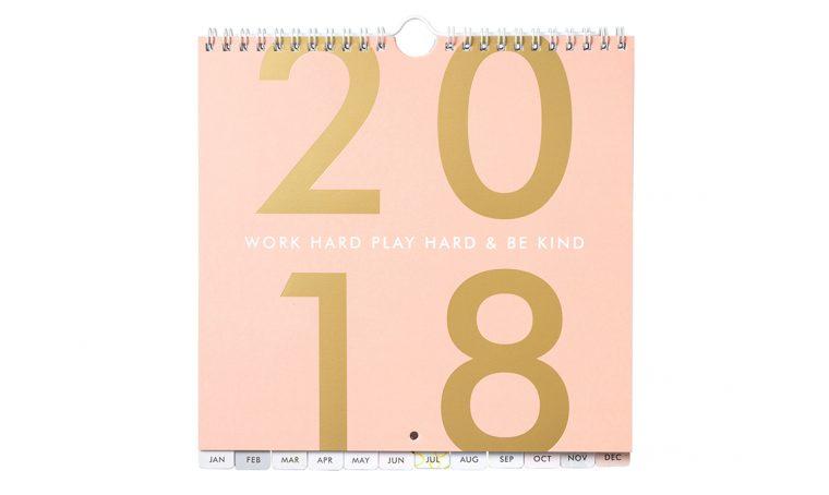 14 calendari per un 2018 super organizzato