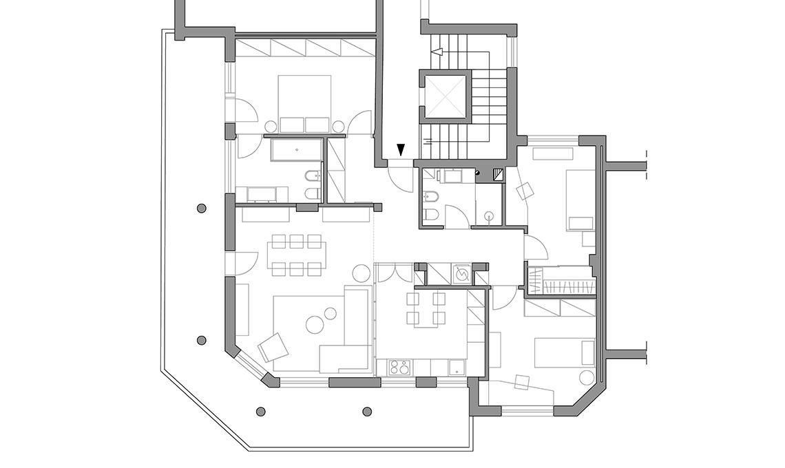 Ristrutturare una casa di 4 locali in stile nordico for Progetto di una casa