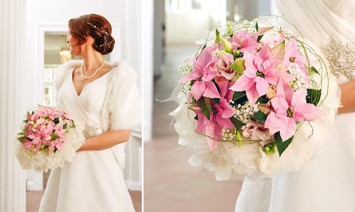 bouquet sposa stelle di natale