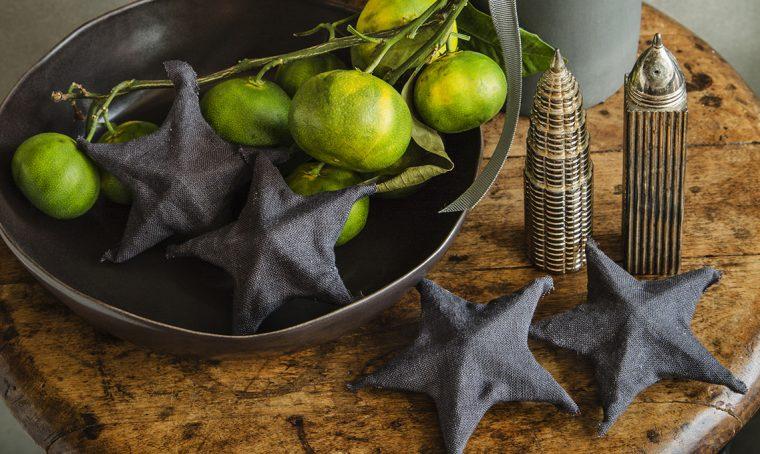 Decorazioni di Natale fai-da-te: le stelle di tessuto