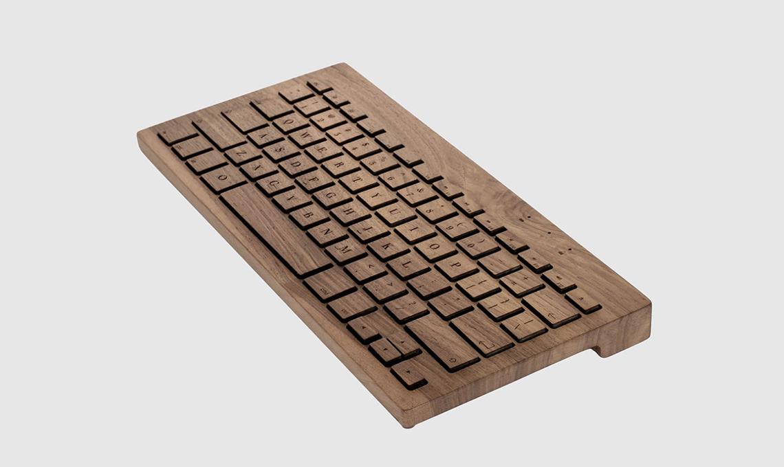 tastiera in legno