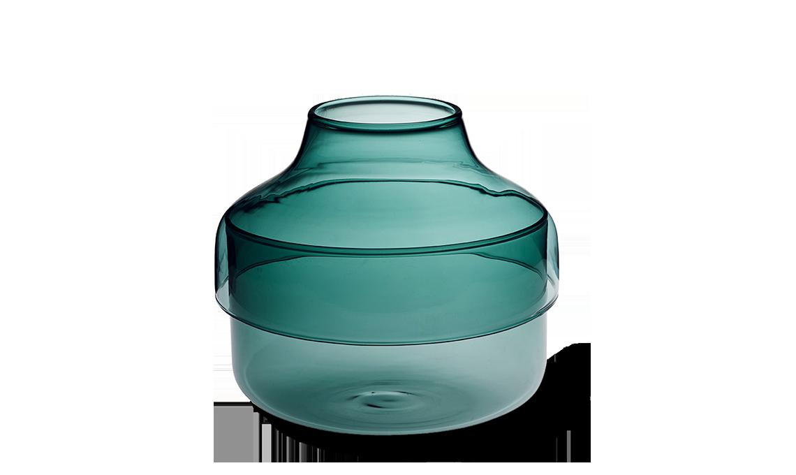 vaso in vetro con coperchio