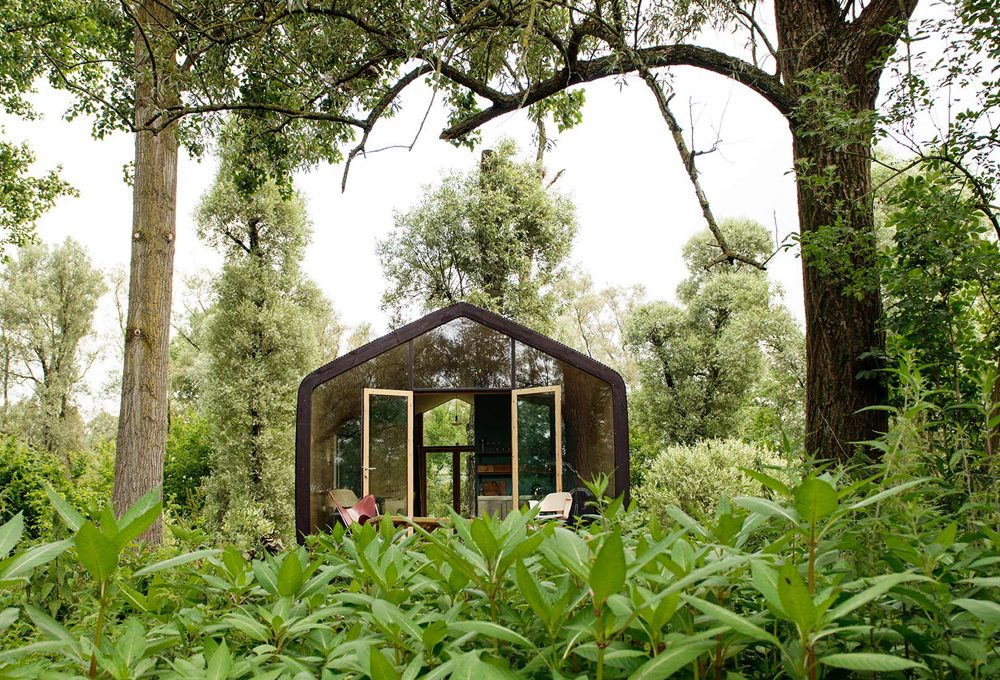 Una casa prefabbricata bella ed eco-compatibile