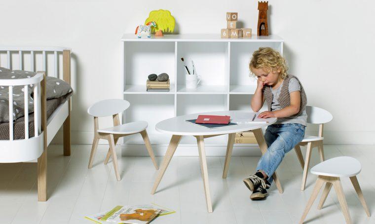 Tavoli e sedie per l'angolo creativo in cameretta