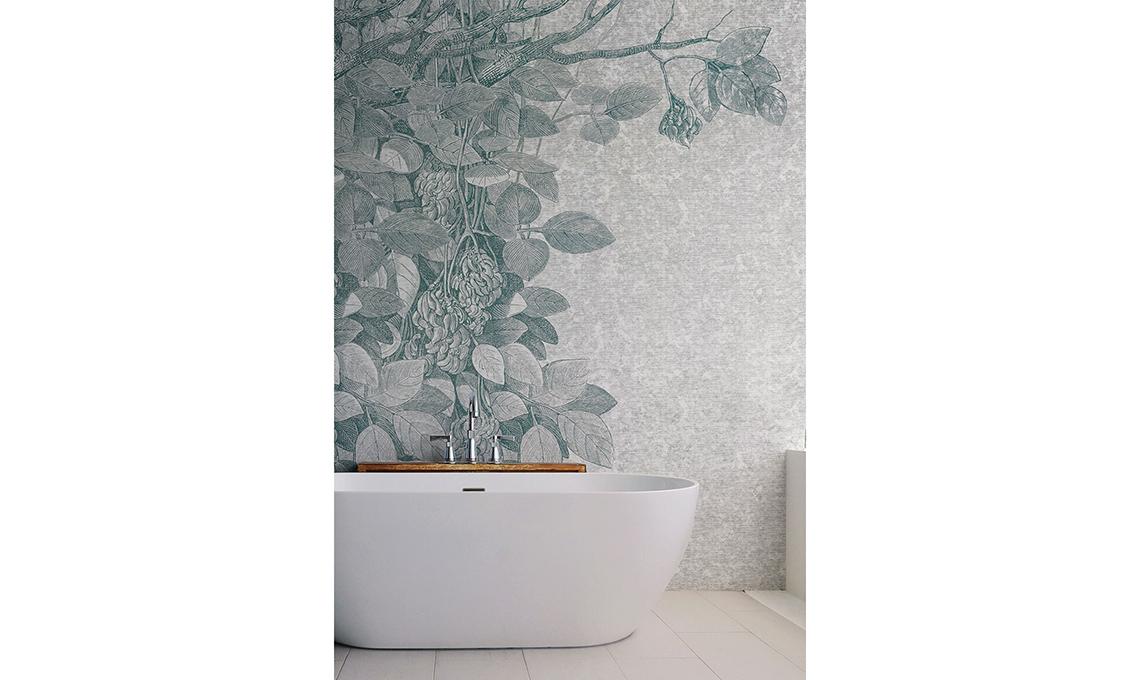Carta da parati in bagno casafacile - Carta da parati lavabile per bagno ...