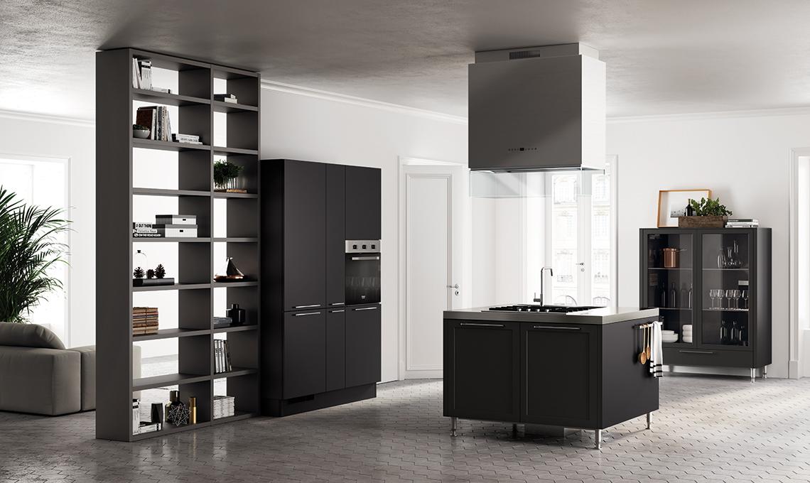 cucina nera scavolini