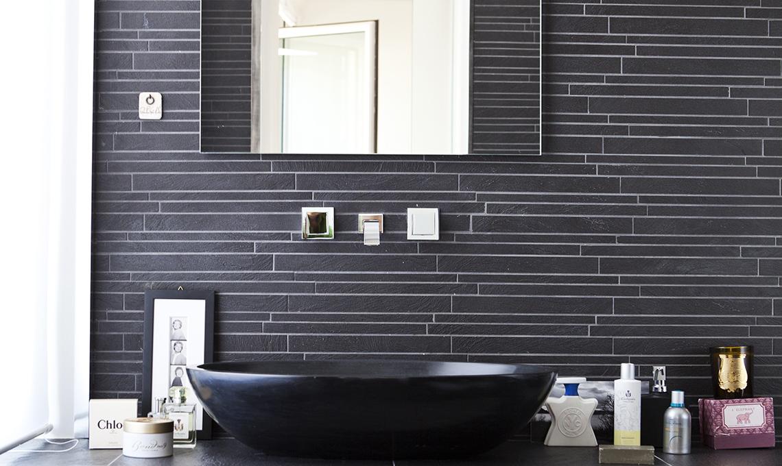 Piastrelle nere per il bagno casafacile - Piastrelle nere per bagno ...