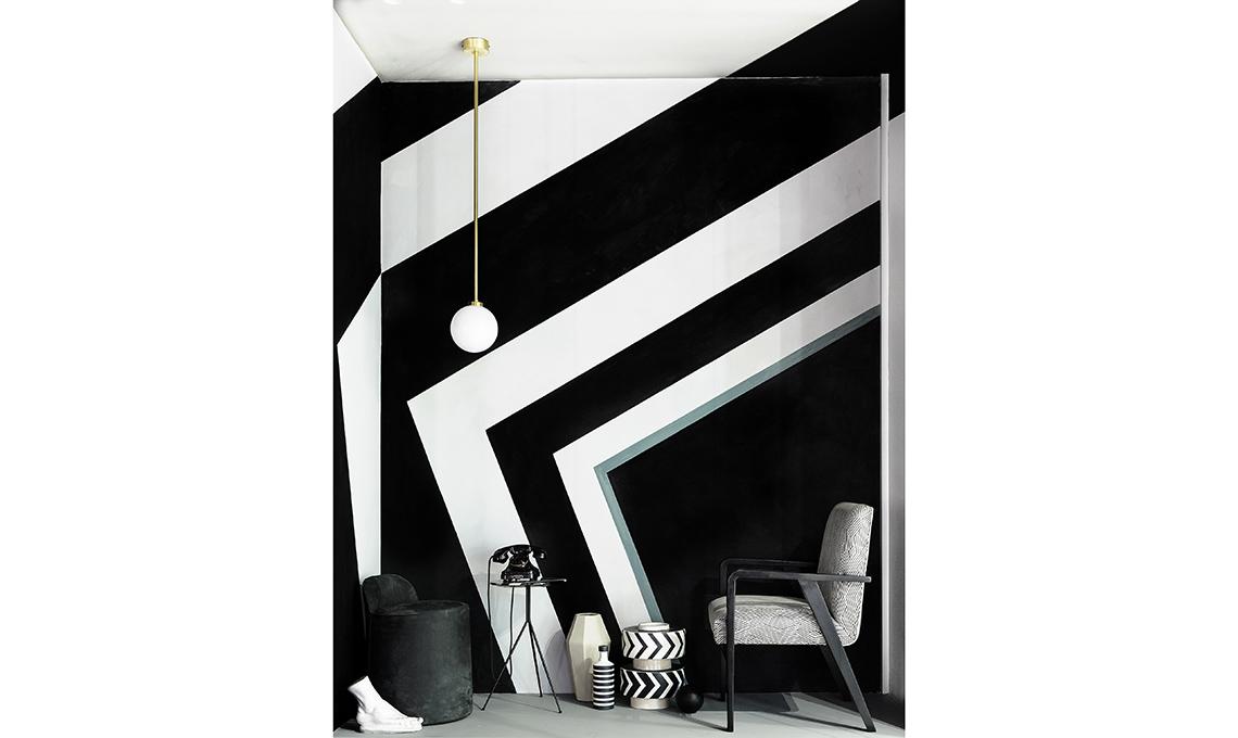 Pareti A Strisce Bianco E Nero : Arredare con righe bianche e nere casafacile