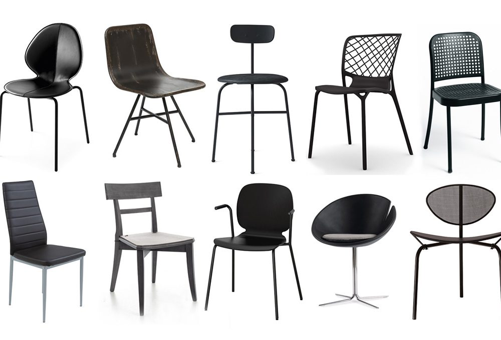14 sedie nere