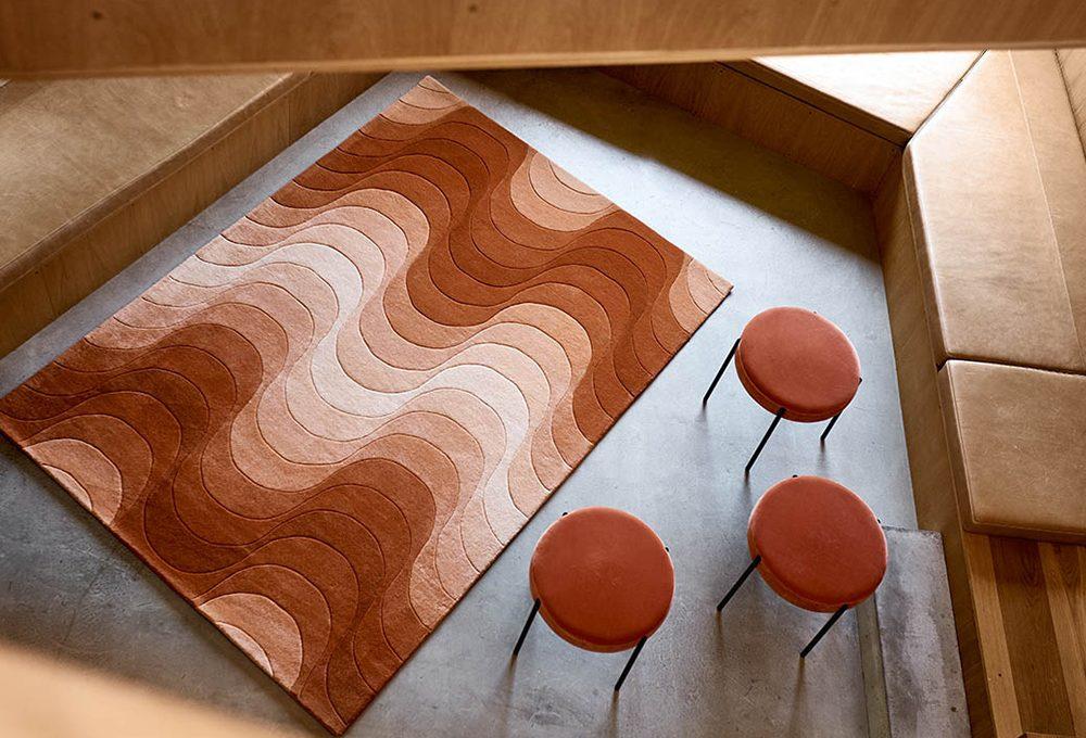 I tappeti optical di Verner Panton