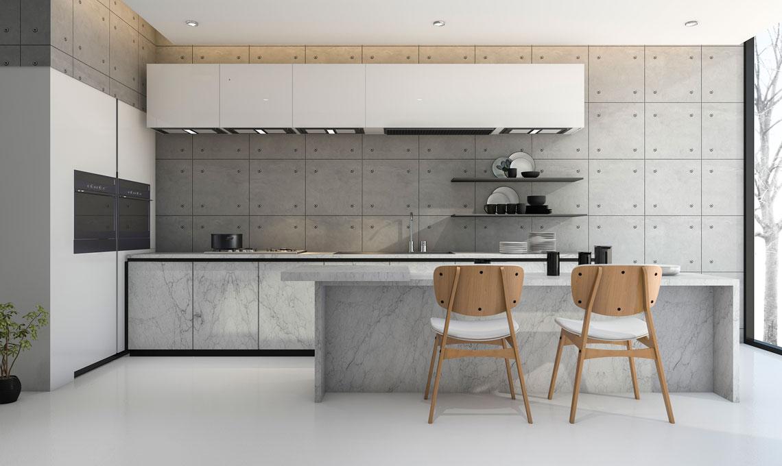 I colori pi adatti per completare la tua cucina bianca o grigia casafacile - Colori per interni cucina ...