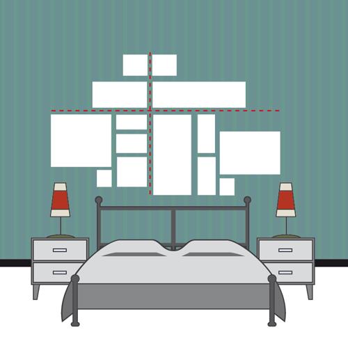 Come appendere i quadri 10 idee da copiare casafacile - Quadri sopra il letto ...