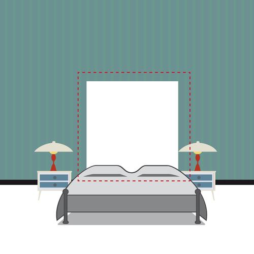 Appendere i quadri dietro al letto: effetto testiera o schema ...