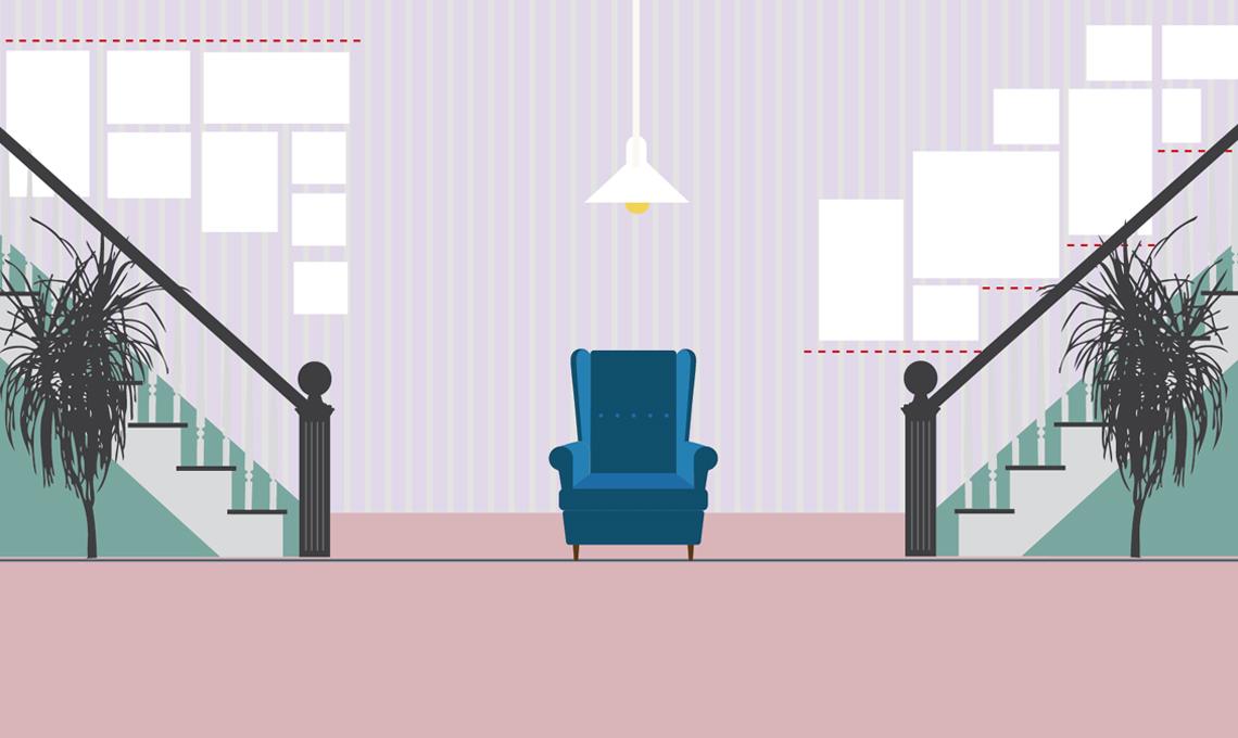 Appendere i quadri sulle scale: allineati al soffitto o a ...