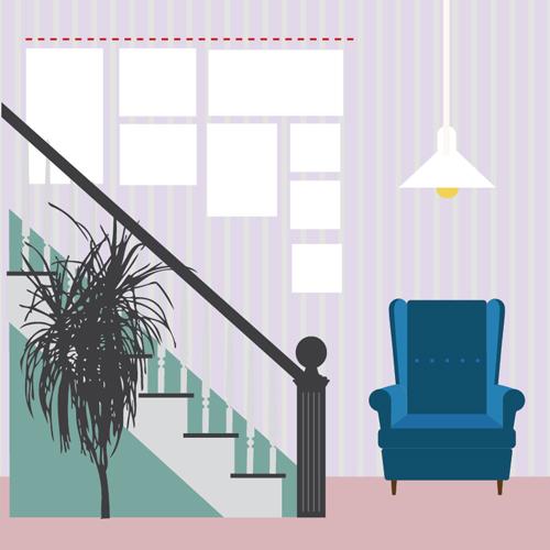 Come appendere i quadri 10 idee da copiare casafacile - Come disporre i quadri in sala ...