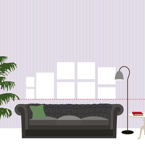 Appendere i quadri in soggiorno: allineati o a composizione ...