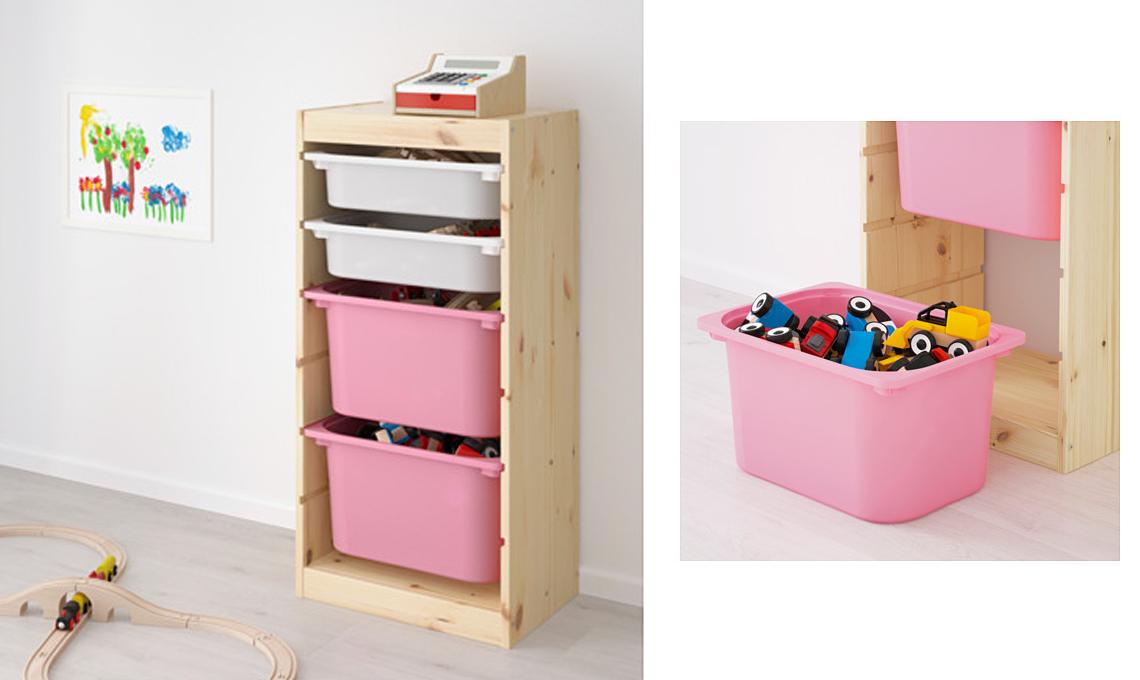 20 soluzioni portagiochi per tenere in ordine la cameretta casafacile - Mini cassettiera ikea ...