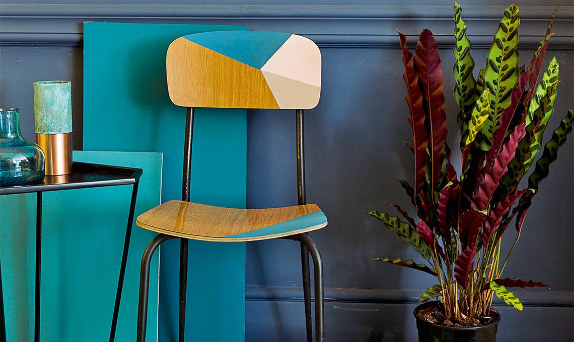 Sedie Dipinte A Mano : Dipingere una sedia vintage casafacile