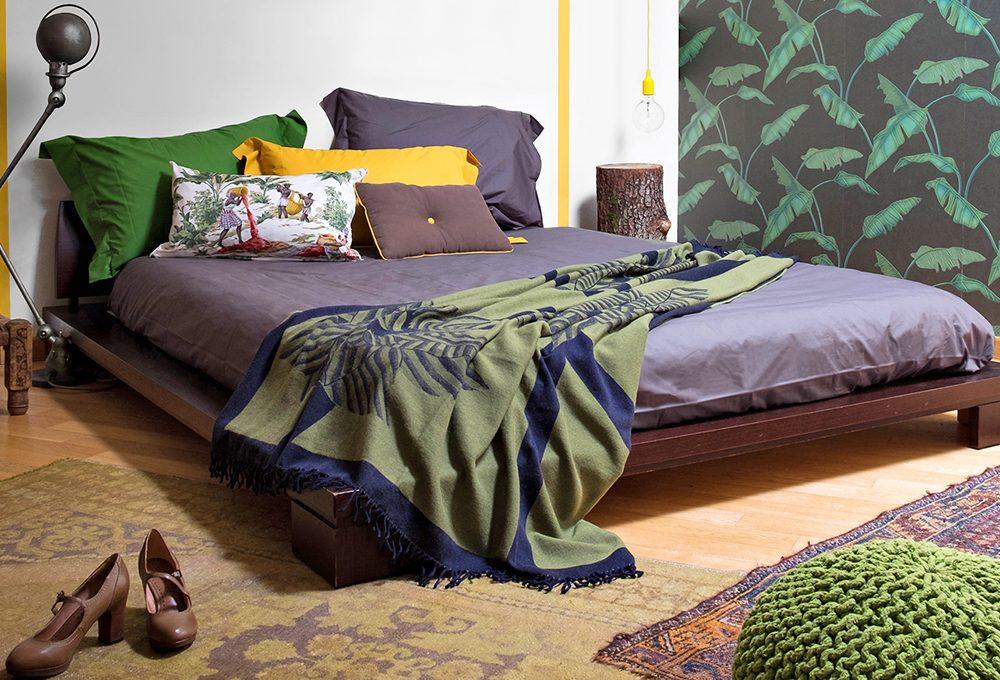 """Prima & dopo di una camera da letto in stile """"jungle"""""""