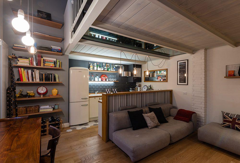 Restyling di un appartamento con soppalco