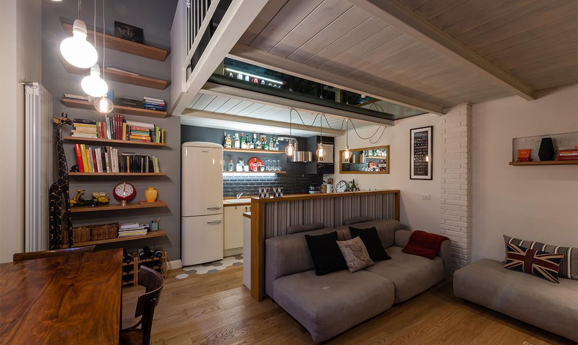 Restyling di un appartamento con soppalco casafacile for Case piccole con soppalco