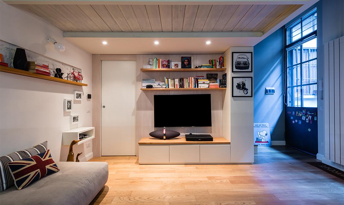 Restyling di un appartamento con soppalco casafacile for Registrare i piani di casa con soppalco