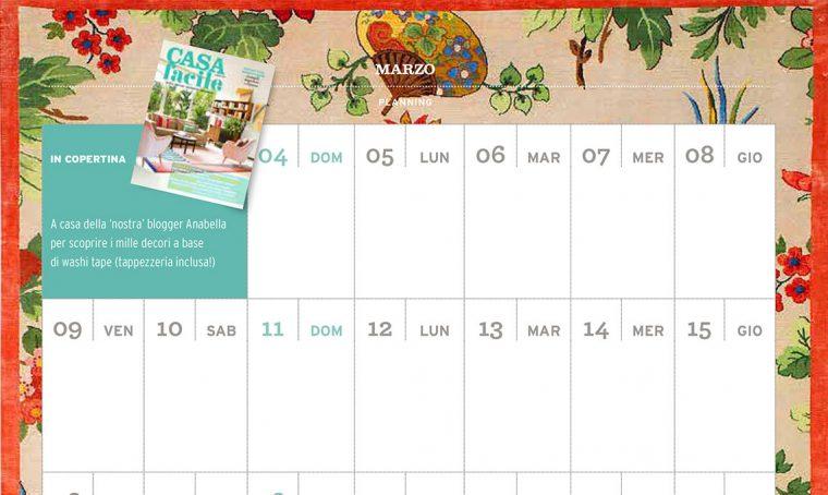 CasaFacile di marzo ti regala il planning del mese