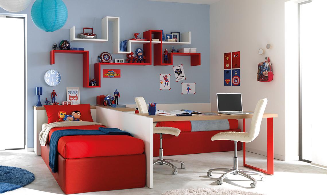 Soluzioni salvaspazio per la cameretta dei gemelli casafacile - Camerette per stanze piccole ...