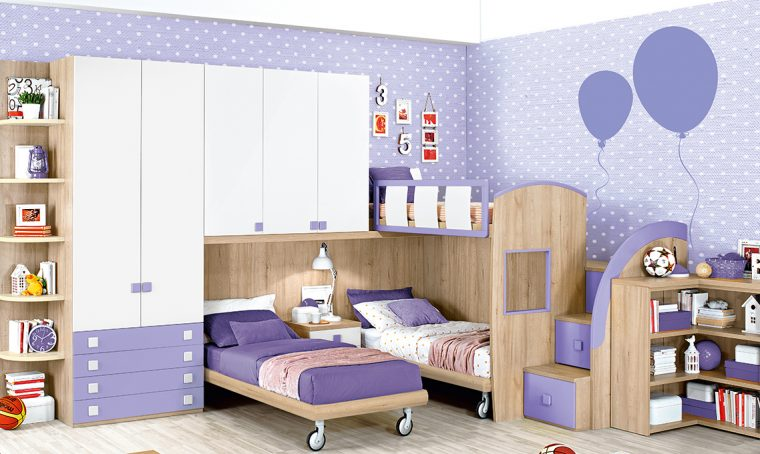 Cameretta per 3 figli: con i soppalchi ognuno ha il suo spazio