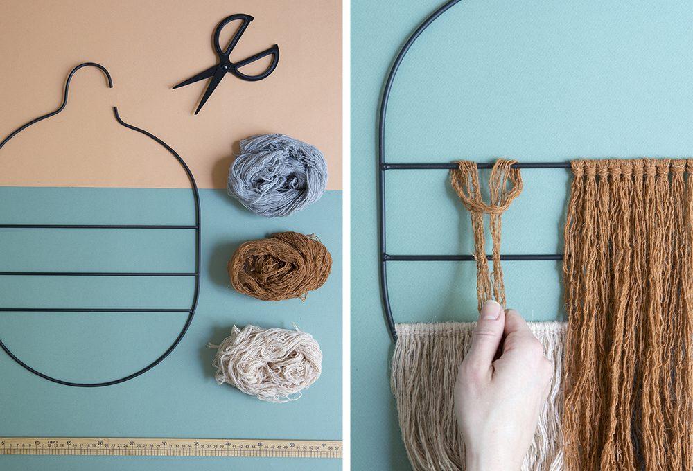 Una decorazione da parete da realizzare con i fili di lana