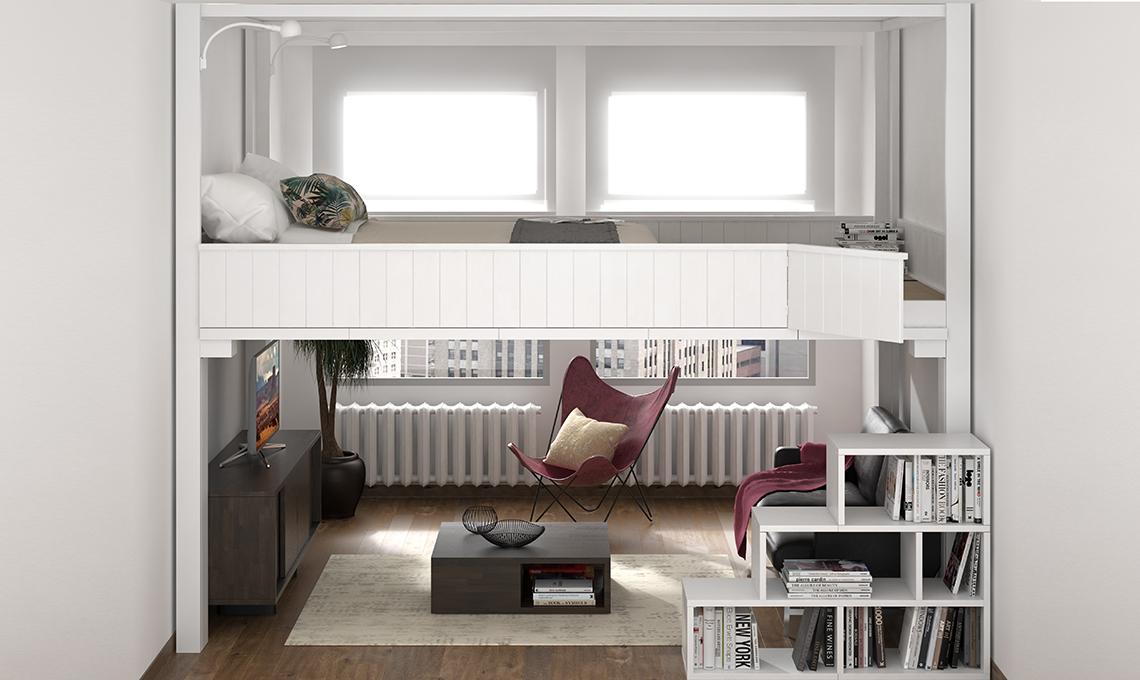 Il letto a scomparsa che sale sul soffitto casafacile - Letto a soppalco su misura ...
