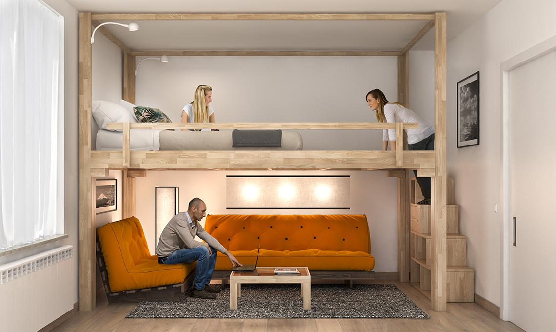 Il letto a scomparsa che sale sul soffitto casafacile - Ikea letti a soppalco ...