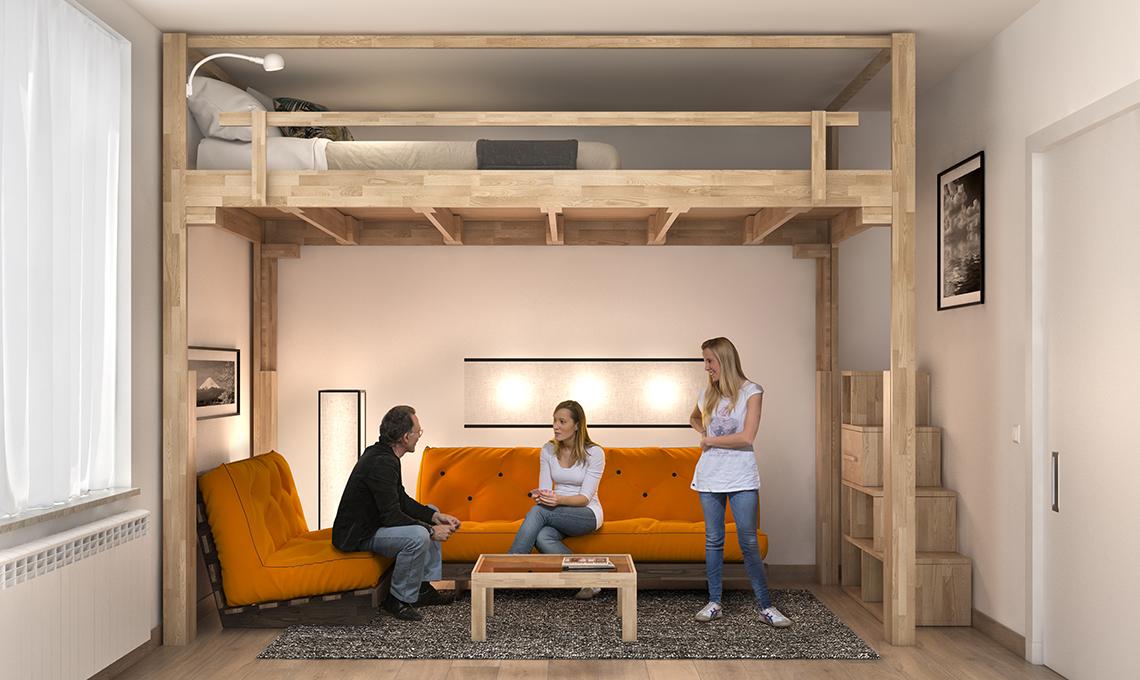 Il letto a scomparsa che sale sul soffitto casafacile for Letto con soppalco